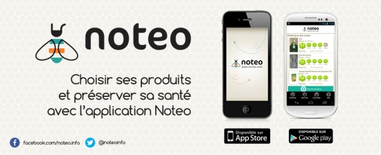 application smartphone consommation noteo